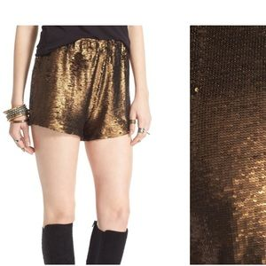 Free people Time To Shine sequin  Shorts medium